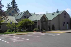 Front of UUCS building from the parking lot
