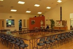 Hanneman Hall configured for a large meeting