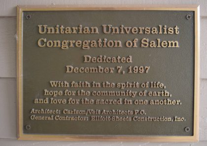 Building dedication plaque-1997