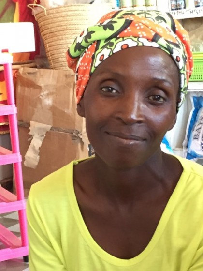 African woman helped by our UUCS Microfinance project in Africa.