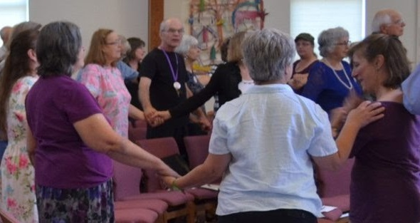 Joining hands after service