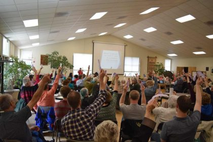 Voting at our annual congregational meeting
