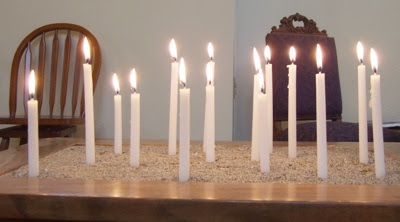 Candles of joys and concerns
