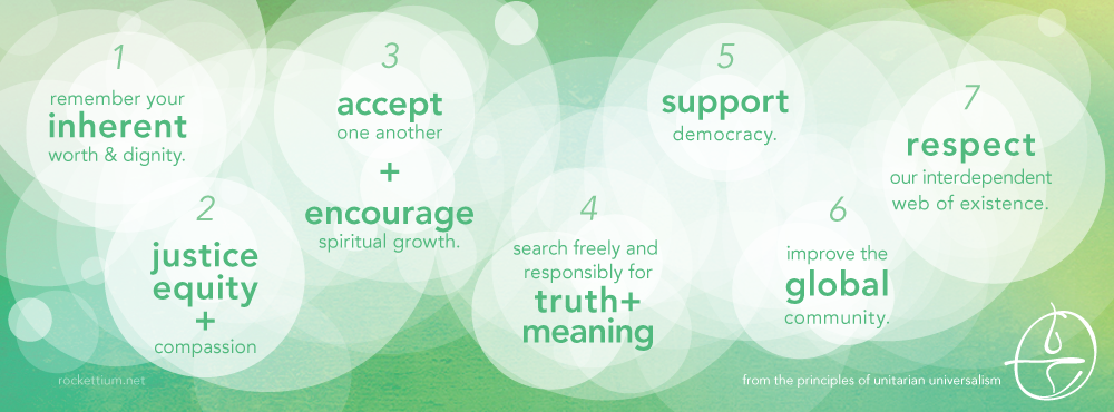 UU seven principles in graphic image