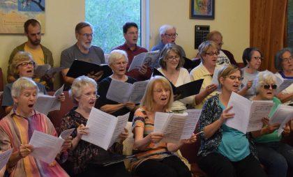 UUCS choir practice 2016-08