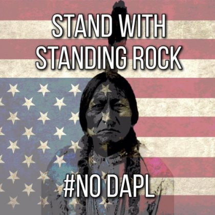 Stand with Standing Rock # NO DAPL downloaded from tumblr 2016-12-1 vc