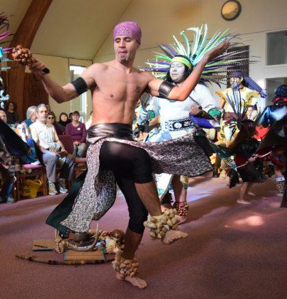 Aztec Dancers in UUCS Sanctuary 2017-1-22