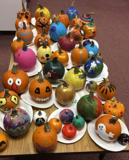 2017-10-25 painted pumpkins