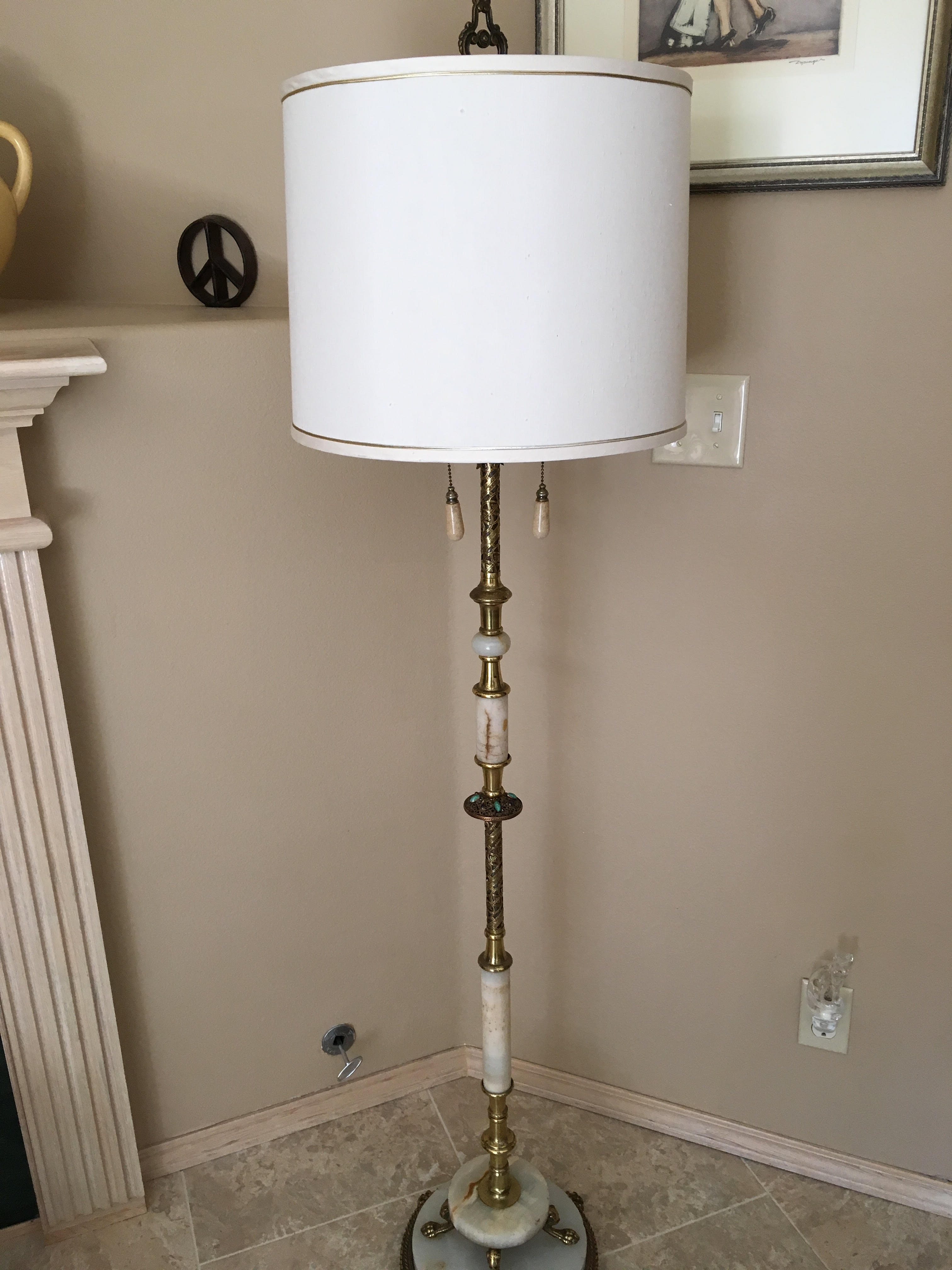 Item 10 vintage floor lamp made of brass and marble for Lamp and light ministries