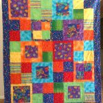 Item 25 - Handmade Child's Quilt With Vibrant Colors
