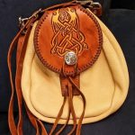 Item105 - Handmade Leather Bag with Tooled Flap