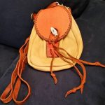 Item103 - Leather Bag With Salmon Flap