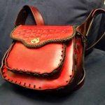 Item102 - Handmade Red Leather Purse