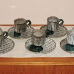 Item 14 - Rustic Pottery Dessert Plates and Cups