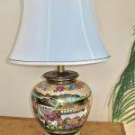 Item 12 - Beautiful Porcelain Japanese Lamp