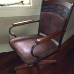 Item 99 - Leather Mission Desk Chair