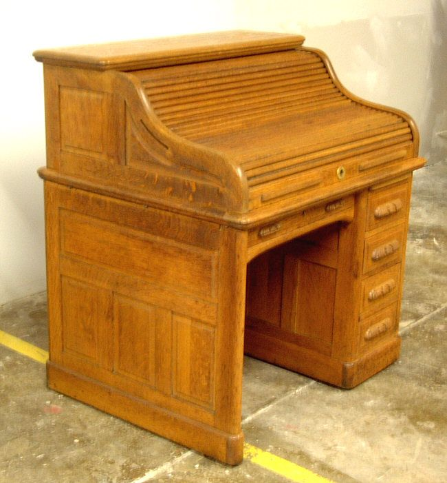 Item 37 – Early American Mahogany Roll Top Desk - Item 37 - Early American Mahogany Roll Top Desk Unitarian