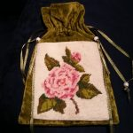 Item111 - Cloth Purse With Needlepoint Patch